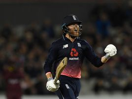 England batsman Jonny Bairstow celebrates his century