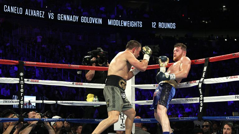 Golovkin's only defeat came against Canelo