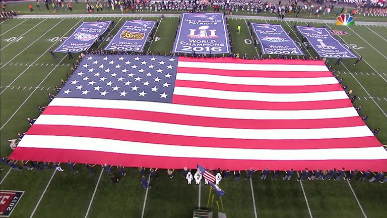 The US anthem is traditionally played before every NFL game