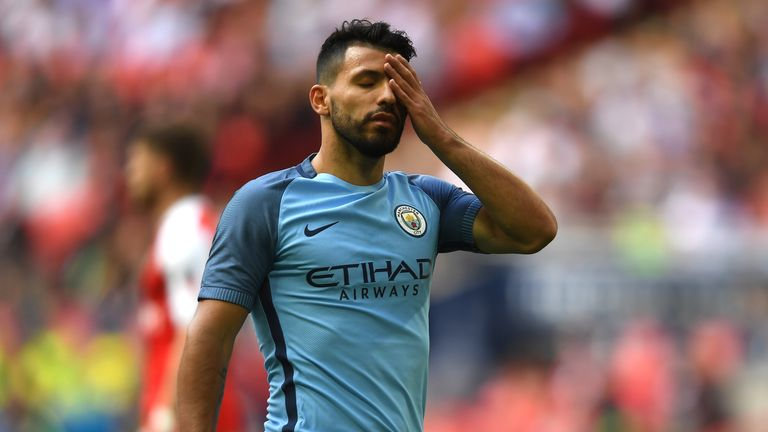 Aguero has scored six goals in the Premier League so far this season, and one in the Champions League