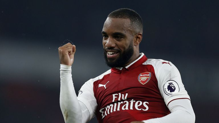 Alexandre Lacazette has scored on all three of his home appearances for Arsenal