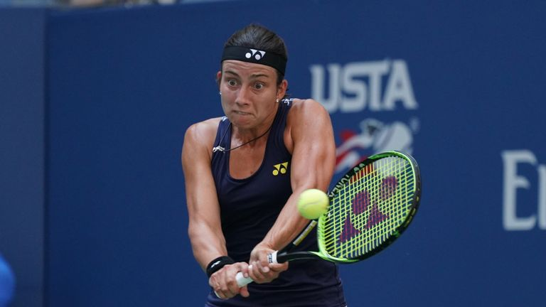 Sevastova saw off Maria Sharapova in the fourth round but was beaten in the last eight for a second successive year