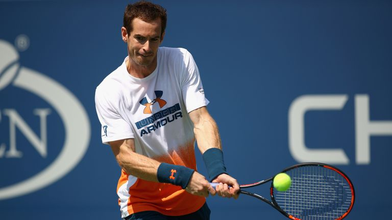 Murray practised prior to the US Open but withdrew from the tournament due to his hip injury