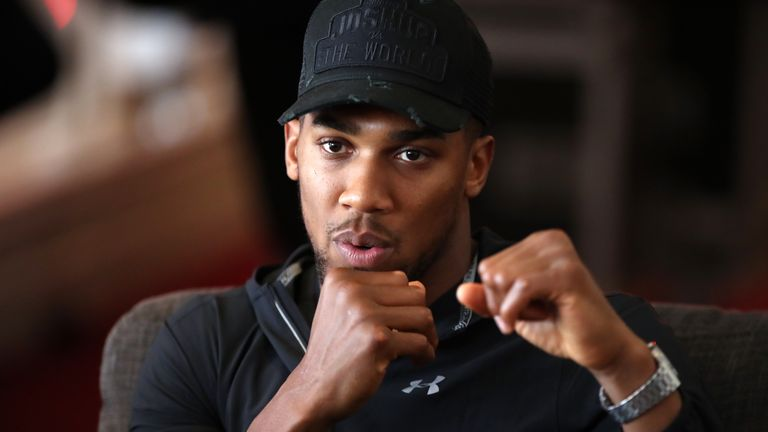 Anthony Joshua has been inspired by Mike Tyson as he trains for world title fight