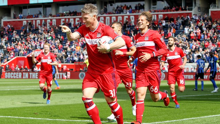 Bastian Schweinsteiger scored four goals and had a club-high six assists in 2018