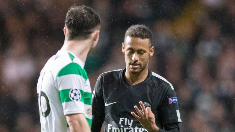 Neymar raised three fingers to remind Ralston of the score at that point