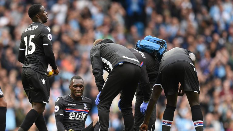 Benteke suffered ligament damage in Crystal Palace's defeat to Manchester City