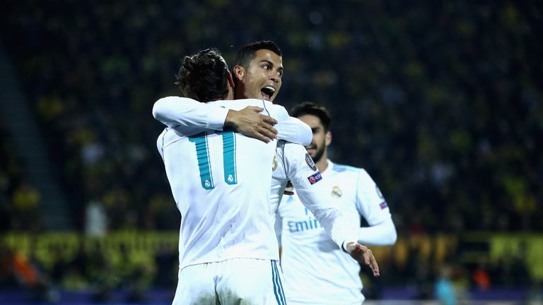Cristiano Ronaldo scored twice for Real Madrid
