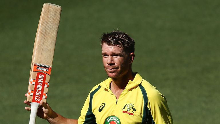 David Warner has been included in Australia's 15-man World Cup squad