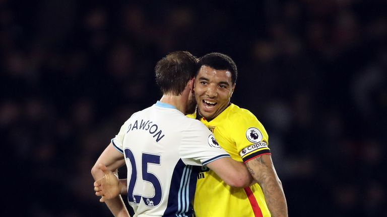 Troy Deeney scored his 100th Watford goal against West Brom in April