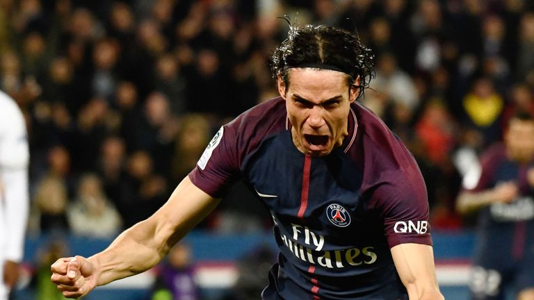 Edinson Cavani scored to break PSG's all-time goalscoring record