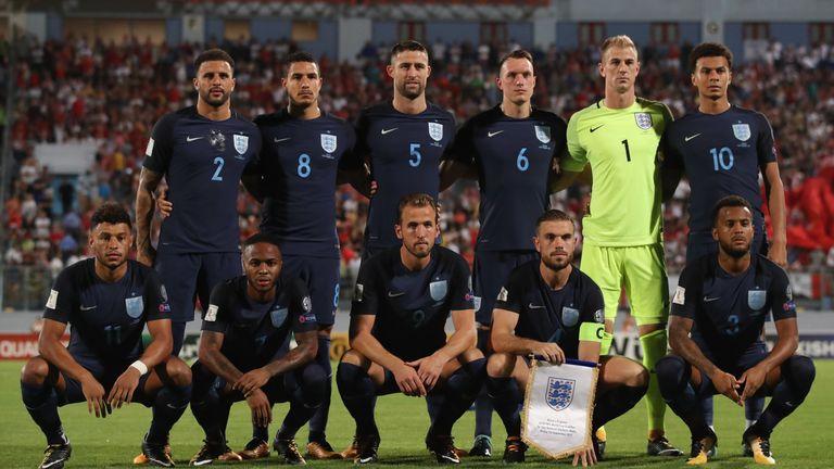 England's starting XI against Malta