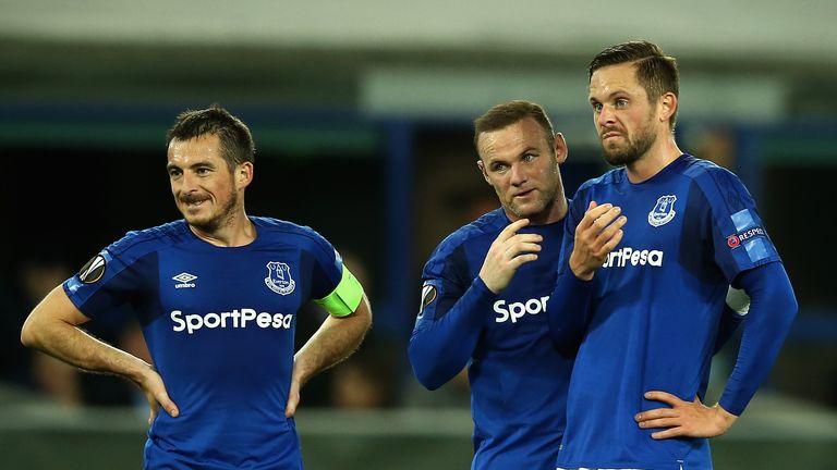 Leighton Baines of Everton during draw with Apollon