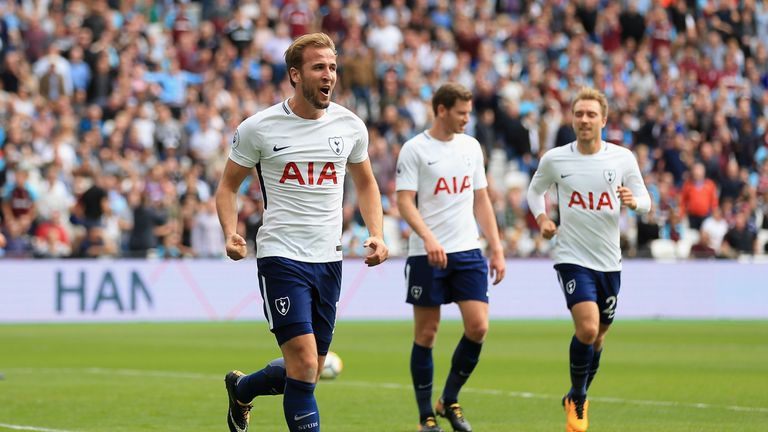 Harry Kane scored two at the London Stadium