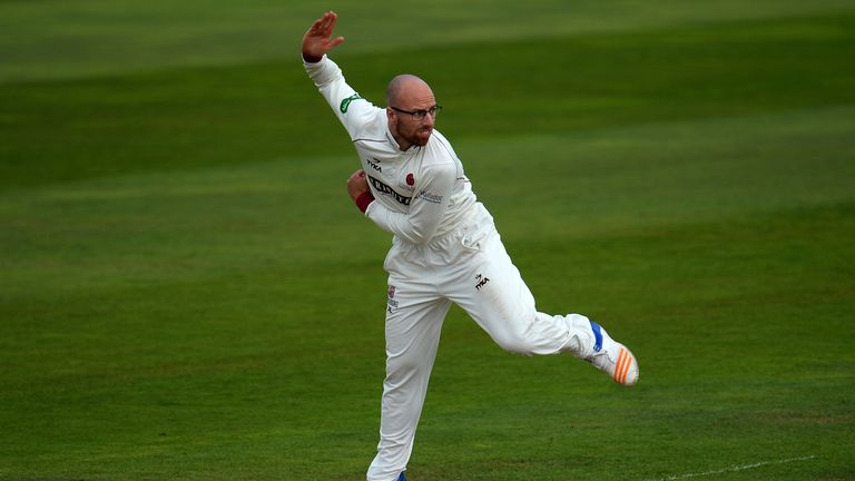 Jack Leach took 6-36 as Somerset rolled Notts for 126 at Trent Bridge
