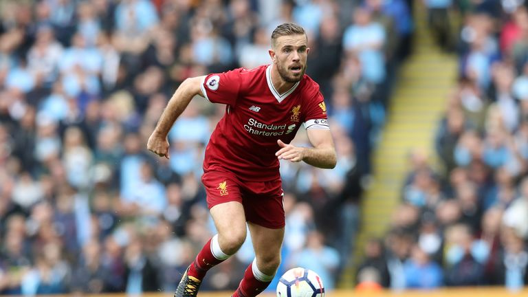 Jordan Henderson was rested for Liverpool's midweek Champions League game