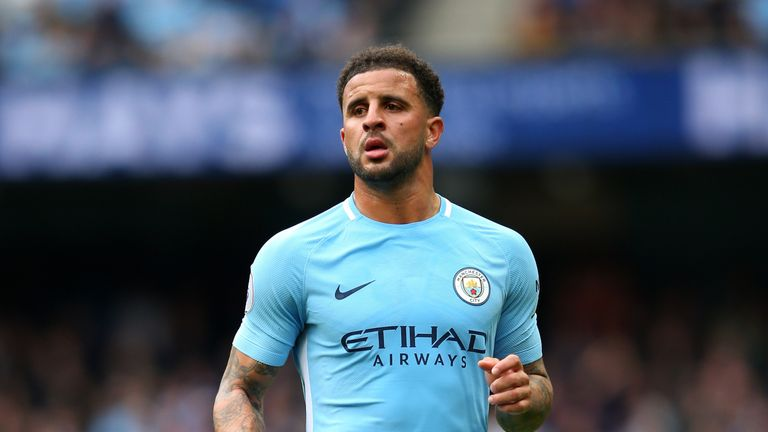 Kyle Walker has made 15 Premier League appearances for Manchester City this season