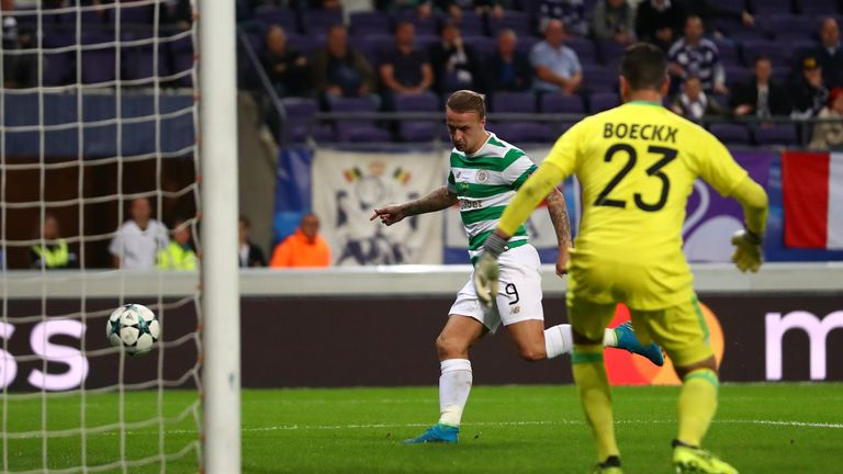 Leigh Griffiths scores the opening goal for Celtic