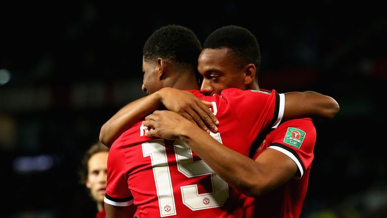 Marcus Rashford and Anthony Martial have combined for five goals and five assists in the league