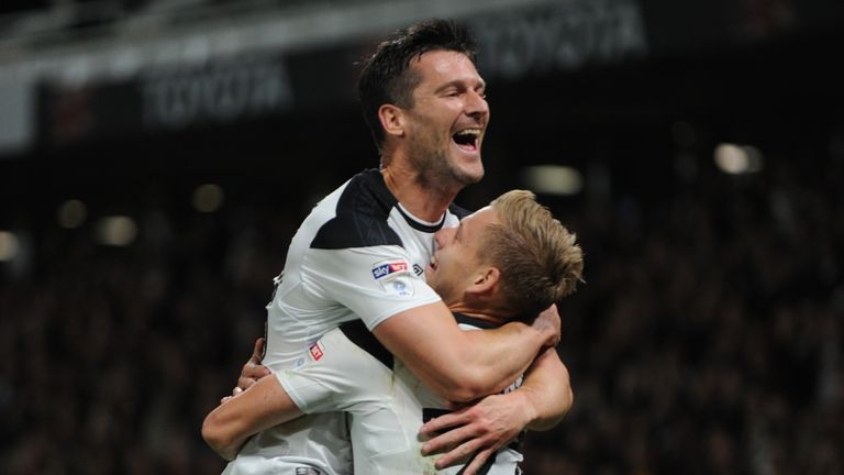 David Nugent scored twice for Derby