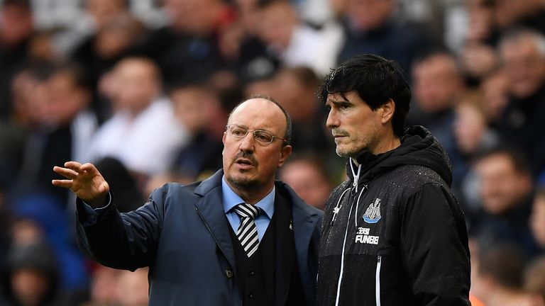 Benitez made his return to the Newcastle bench in the win over Stoke last week