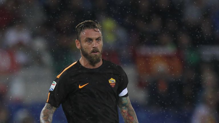 Daniele de Rossi says he feels the pressure of being a symbol of Roma