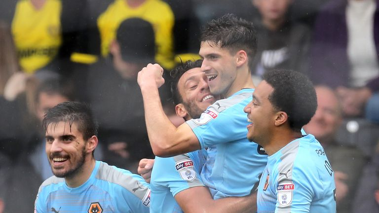 Ruben Vinagre scored for Wolves during their successful Championship campaign