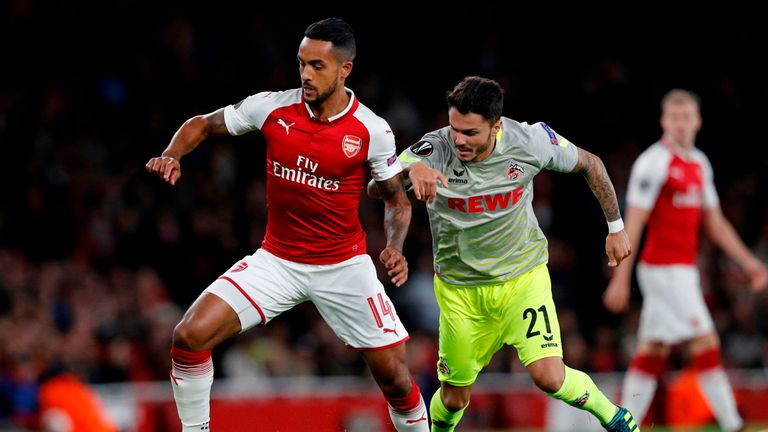 Walcott was limited to Europa League appearances in his final season