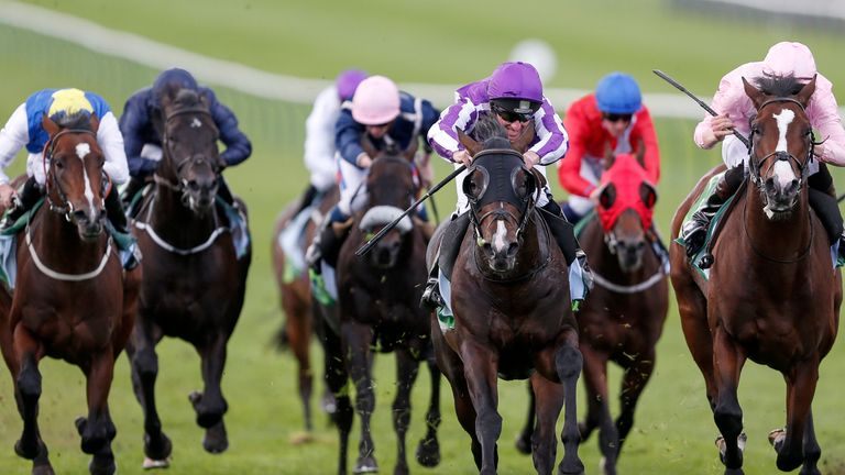 US Navy Flag (C, purple/white) wins the Juddmonte Middle Park Stakes