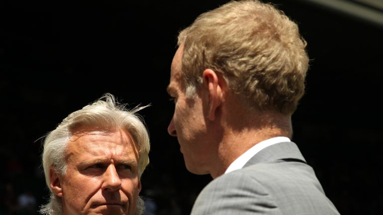 Borg (L) and McEnroe will resume their epic rivalry as captains