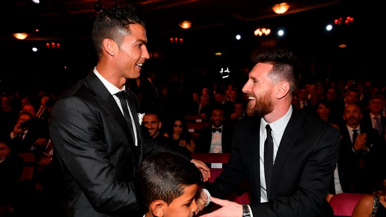 Lionel Messi (R) and Cristiano Ronaldo (L) were both up nominees for the Best FIFA Men's Player