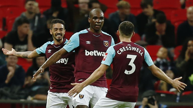 Angelo Ogbonna scored West Ham's winner against Tottenham in the Carabao Cup