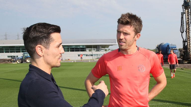 Manchester United captain Michael Carrick will be watching Anthony Crolla's fight with Ricky Burns this Saturday, live on Sky Sports