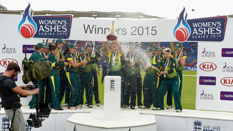 Australia won the last Women's Ashes in England in 2015 by 10 points to 6