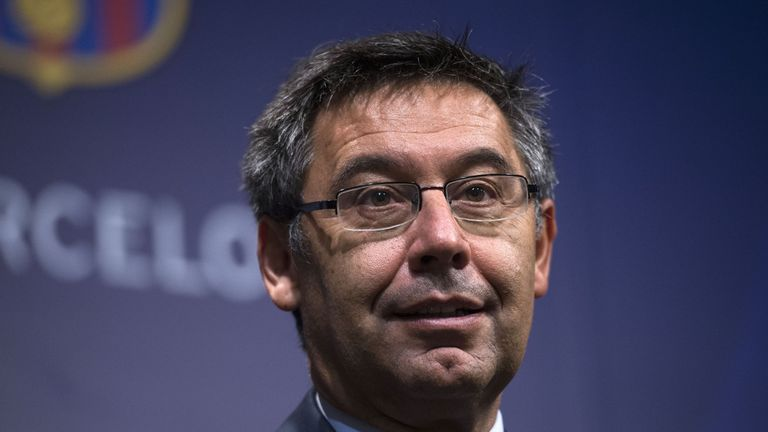 Barcelona's president Josep Maria Bartomeu