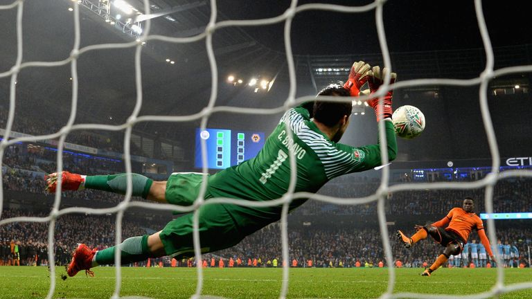Claudio Bravo shut out Wolves to help City make the Carabao Cup quarter-finals