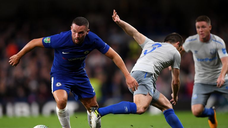 Danny Drinkwater in action during his first Chelsea appearance
