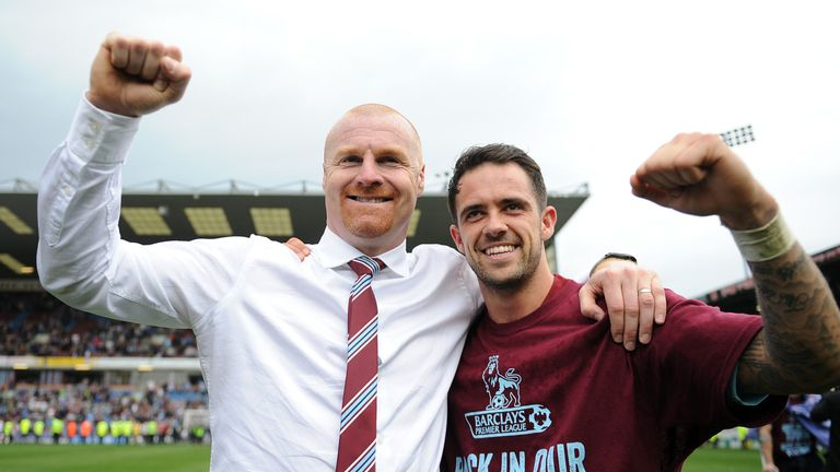 The man from Kettering celebrates promotion with Danny Ings
