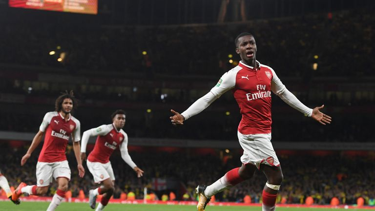 Eddie Nketiah introduced himself in stunning fashion with a double against Norwich