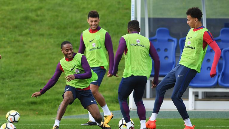 Sterling, Oxlade-Chamberlain and Alli make up Merse's attacking contingent