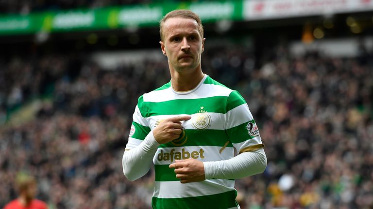 Leigh Griffiths scored the only goal of the game against Hibernian