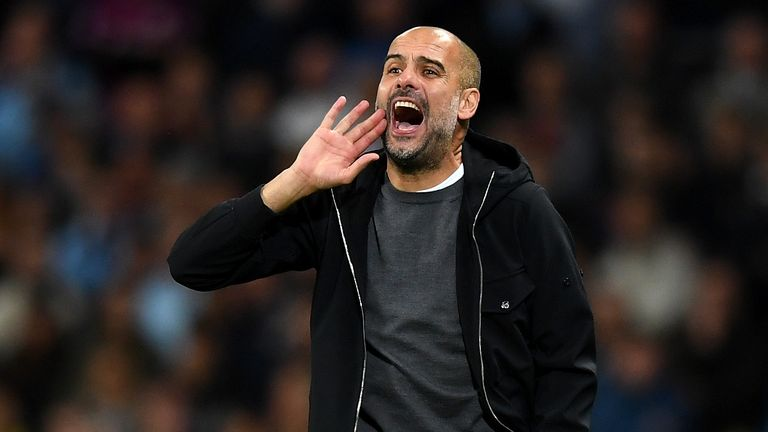 Guardiola's City are favourites for the Premier League title