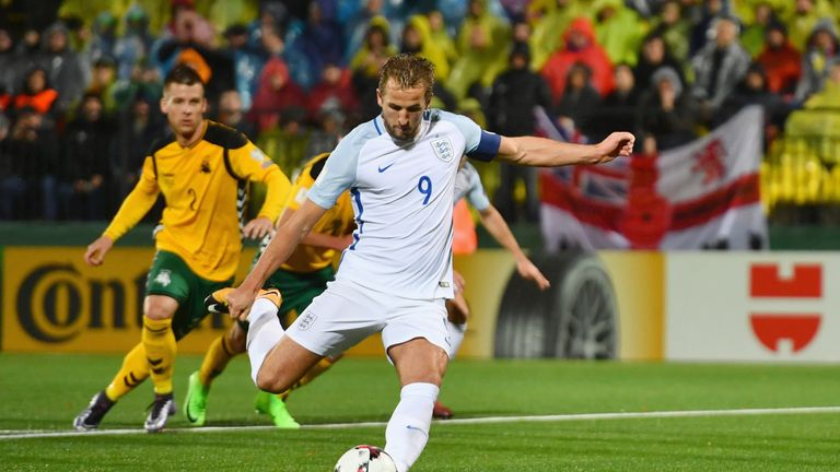 Kane put England ahead on 27 minutes with a penalty