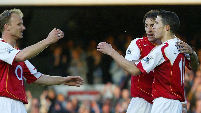 Dennis Bergkamp inspired Arsenal to a 7-0 win over Everton