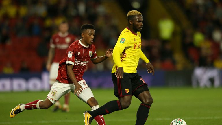 Striker Success has made one appearance for Watford this season