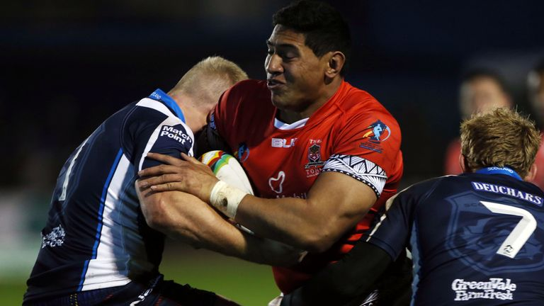 Jason Taumalolo in action for Tonga