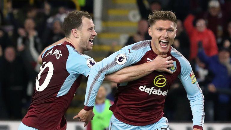 Jeff Hendrick celebrates scoring Burnley's winner against Newcastle