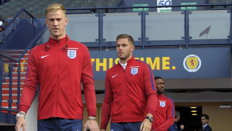 Jack Butland and Jordan Pickford are both vying to take the No 1 jersey from Joe Hart
