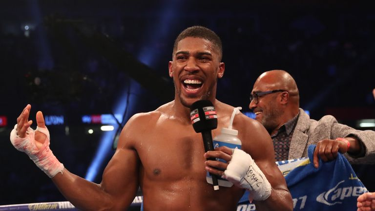 Anthony Joshua will be smiling on March 31, says promoter Eddie Hearn