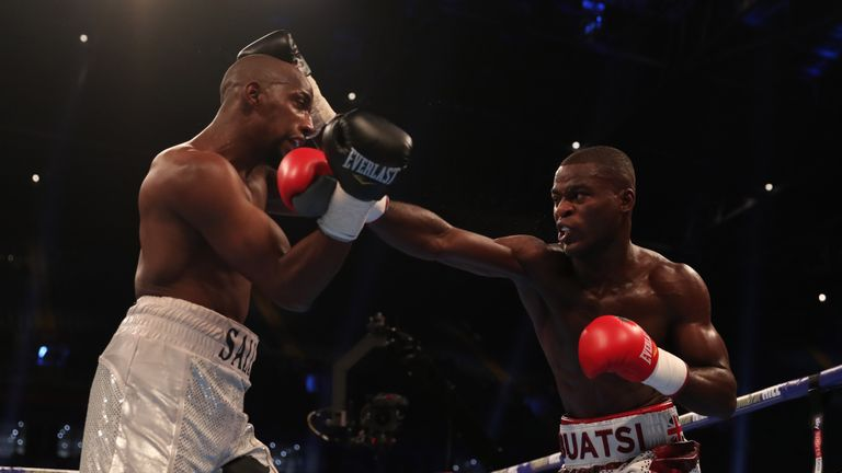 Buatsi (r) will be on the O2 bill on February 3